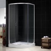 Sparkle Sliding Door Shower Enclosure with Base and Backwall