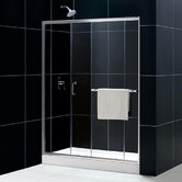 Tub To Shower Kit: INFINITY PLUS Shower Door, AMAZON Shower Base (Right Drain)