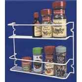 Two Shelf Spice Rack in White
