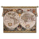 Antique Map Geographica Wall Hanging