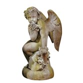 Angels Como Cherub and Doll with Wings Statue