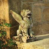 Gargoyles Big Mouth Griffin Statue