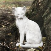 Animals Cat Waiting Statue