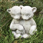 Animals Twin Bear Cubs Statue