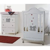 Bambino Legno Nursery Room Set in White Brillantino