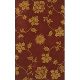Floral Burgundy/Gold Rug