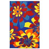 New Wave Neon Flowers Rug