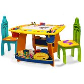 Crayola Wooden Kids' 3 Piece Table and Chair Set