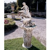 Resin Young Poseidon Sculptural Fountain
