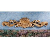 De Velde Water Lily Architectural Wall Pediment in Antique Gold