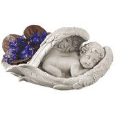 Cradled In Hope Cherub Statue