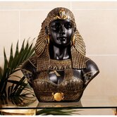Queen Cleopatra Neoclassical Sculptural Bust