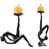 Les Acrobates Sculptural Candleholders (Set of 2)