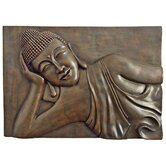 Wat Pho Reclining Thai Buddha Wall Plaque