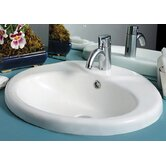 China Drop in Sly Oval Bath Basin with a Chrome Overflow