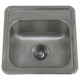 New England Drop-in Small Square Kitchen Sink with Two Hole