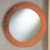 New Generation Large Round Terra Cotta Mirror