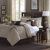 Dune 7 Piece Comforter Set in Beige