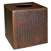 Hand Hammered Copper Tissue Box Cover