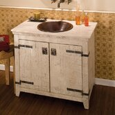 "36"" Old World Vanity Base with Crema Vanity Top"