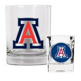 NCAA Rocks Glass and Shot Glass Set