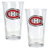 NHL Pint Ale Glass 2 Piece Set - Primary Logo