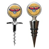 NBA Cork Screw and Wine Bottle Topper Set