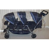 Triplet (Front to Back) Stroller Rain and WeatherBug Cover