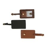 Leather Snap Luggage Tag