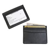Mini ID and Credit Card Holder in Black