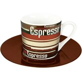 "2-tlg. Espresso-Tassen Set ""Coffee Stripes"" aus Porzellan"