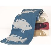 Eco Fish Cotton Throw Blanket