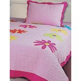 Daisy Crazy 2 Piece Twin Quilt Set