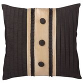 "Yorke 12"" x 12"" Pillow with Braid & Self Buttons"