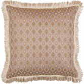 "Biltmore 18"" x 18"" Pillow with Brush Fringes"