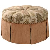 Woodland Round Ottoman with Cord and Self Button