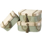 Fortune Largest Gift Boxes with Tassel and Self Button (Set of 3)