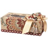 Dempsey Romance Rectangular Tissue Box with Bouquet Trim