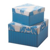 Ikat Square Boxes (Set of 2)