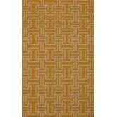 Flat Weave Yellow Rug