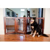 Configurable 360 Z-Fold Pet Gate in Walnut