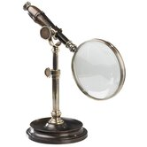 Magnifying Glass with Stand in Bronzed
