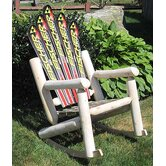 Ski Adirondack Log Rocker