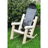 Children's Snow Board Log Rocking Chair