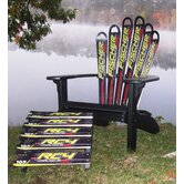 Fischer Ski Adirondack Chair and Ottoman