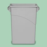 Slim Jim Waste Receptacle with Handles - 15 7/8 Gallon