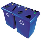 Plastic Glutton Recycling Station in Blue