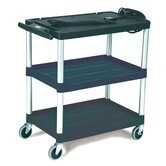 Media Master AV Cart with 3-Shelf in Black