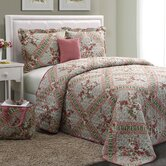 Floral Polyester/Cotton 5-Piece Quilt Set