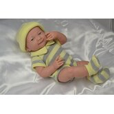 La Newborn - 14&quot; Real Girl Vinyl Doll with Yellow Knit Outfit